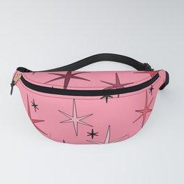 Mid Century Modern Star Sky Pink Fanny Pack