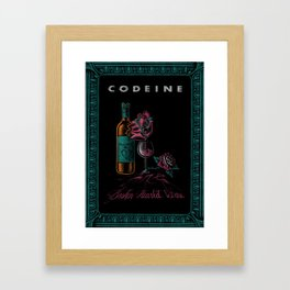 CODEINE - Broken Hearted Wine Framed Art Print