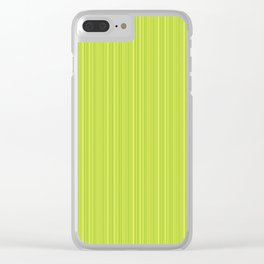 Lime Green Pinstripe Clear iPhone Case