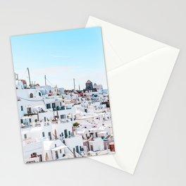 Santorini Greece Ligh Blue Sky Stationery Cards