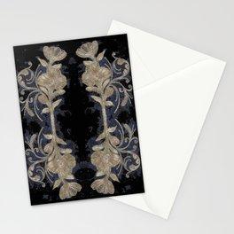 Poppies Goldish Gothic Stationery Cards