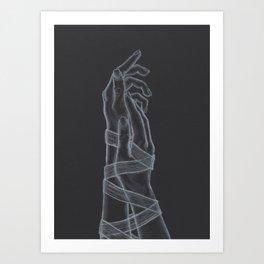 As Long As Love Shall Last - Noir Art Print