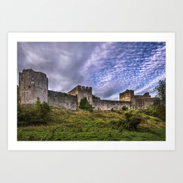 Chepstow Castle Walls Art Print