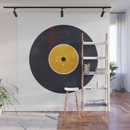 Vinyl Record Star Sign Art | Leo Wall Mural