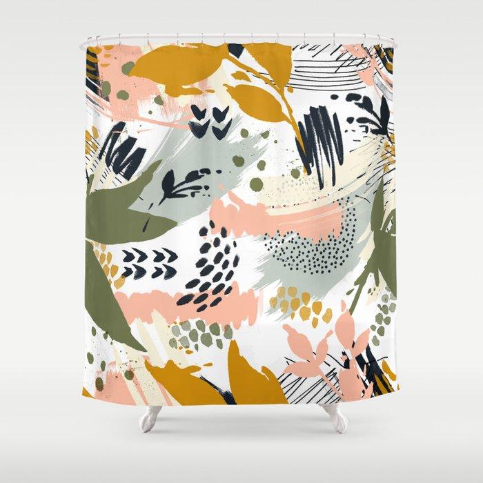 Abstract strokes still life Shower Curtain
