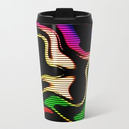 Hot abstraction with lines 1 Travel Mug