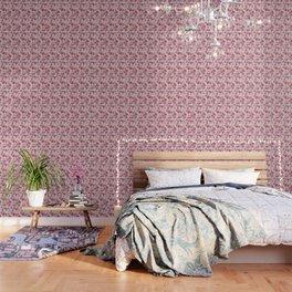 Pink Spring Flower Pattern Wallpaper