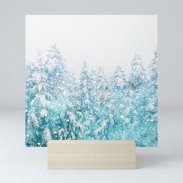 Snowy Pines Mini Art Print