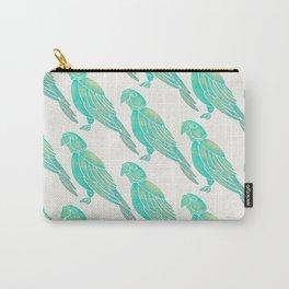 Perched Parrot – Mint Palette Carry-All Pouch