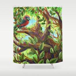 Bird up a Tree Shower Curtain
