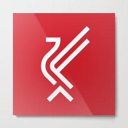 LFC Liverbird Type Logo Metal Print