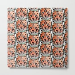 a tiger Metal Print