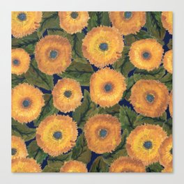 Sunflower afternoon Canvas Print