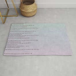 Sparkling Faux Glitter Soft Pastel Pink and Teal Rug