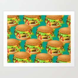 Double Cheeseburgers Art Print