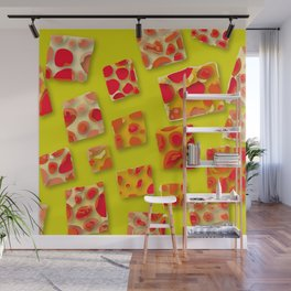 red spotted rectangles Wall Mural
