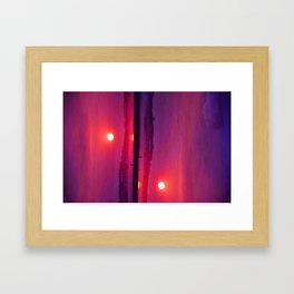 Long Beach Sunset Framed Art Print