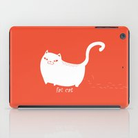 fat iPad Cases featuring Fat Cat by Annie Lin