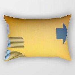 Abstract Signage Rectangular Pillow