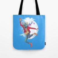 birdman Tote Bags featuring BIRDMAN by GENO