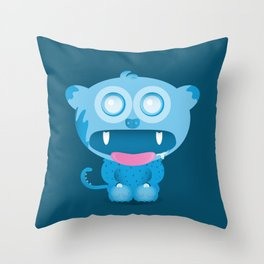 hungry monster Throw Pillow
