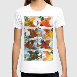 Indonesian batik, wild fish pattern T-shirt