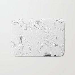 Artistic Shaped Scan Bath Mat