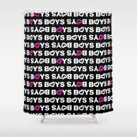 boys Shower Curtains featuring Boys by aisha richardson