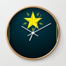 Gold Star/ Blue Wall Clock