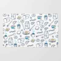 breakfast Area & Throw Rugs featuring BreakfasT by Ceren Aksu Dikenci