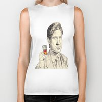 mulder Biker Tanks featuring Mulder by withapencilinhand