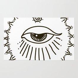 eye, spiral Rug