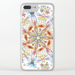 Mother Earth Mandala Clear iPhone Case