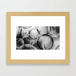 Bubble Noir Framed Art Print