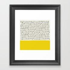 Sunshine x Dots Framed Art Print