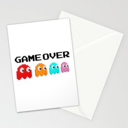 Pacman Game Over Stationery Cards