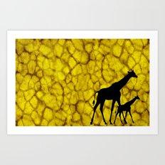 Giraffiti Art Print