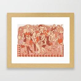 Clubbing Framed Art Print