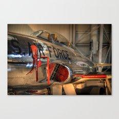 1960's Training Jet. Chrome Plated! Canvas Print