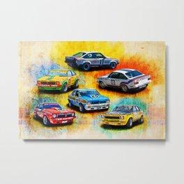 Racing Toranas Metal Print