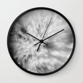 Sign of Winter a sow thistle weed covered in frost Wall Clock