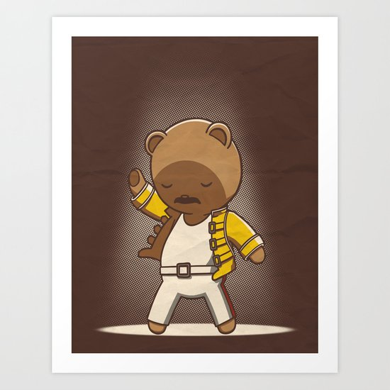 Teddy Mercury Art Print