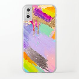 Contemporary abstract painting Clear iPhone Case