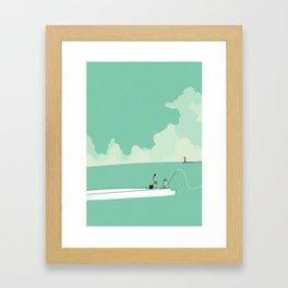 Sea fishing Framed Art Print