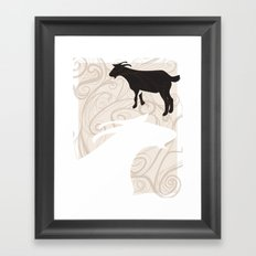 Farm Poster #1 -Goats Framed Art Print