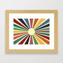 Sun Retro Art II Framed Art Print