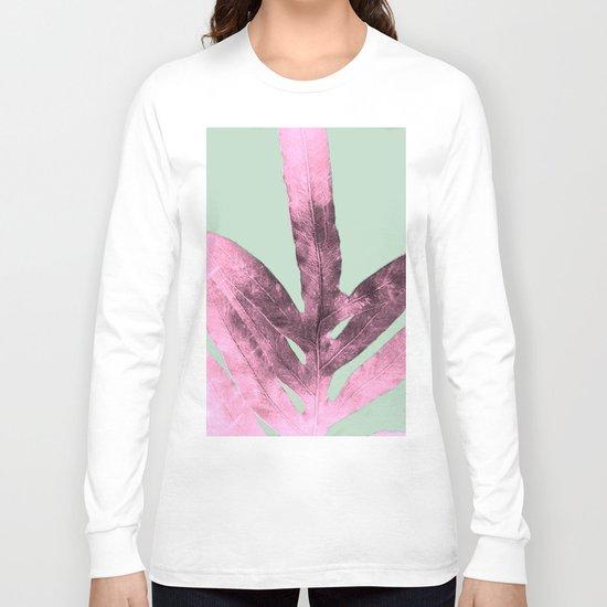 Sepia Fern Purple Long Sleeve T-shirt