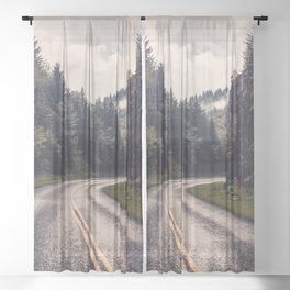 Smoky Mountain National Park -  Road Trip Adventure Sheer Curtain