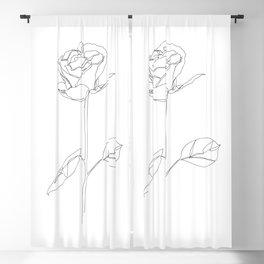Black Rose Blackout Curtain