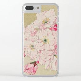 Fukurokuju - God of Longevity Cherry Blossoms Clear iPhone Case